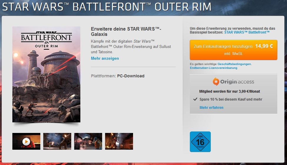 Star Wars Battlefront Outer Rim kaufen