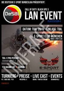 DeSBL Umfrage zur Call of Duty: Black Ops 3 LAN im E-Sport Club München