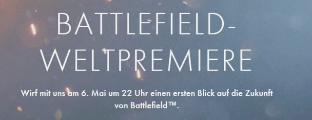 Battlefield 5 Weltpremiere