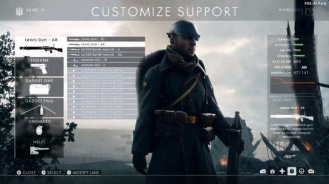 Battlefield 1 Charakteranpassung