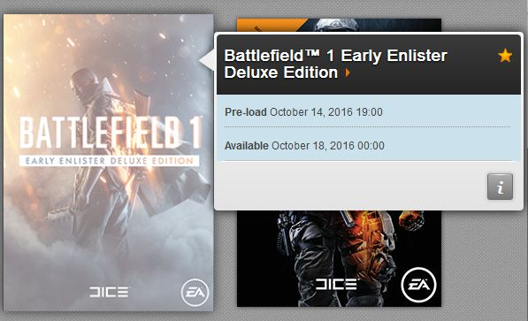 Preload Battlefield 1 Hauptspiel