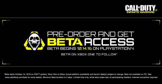 infinite warfare beta