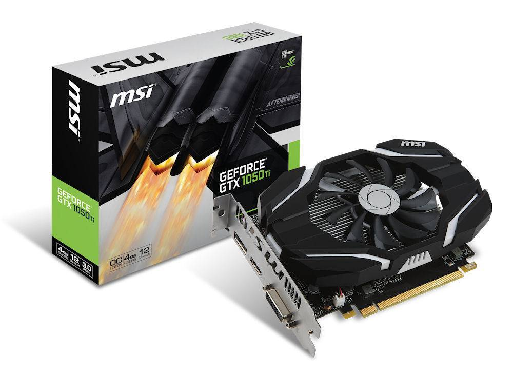 MSI GeForce® GTX 1050 Ti 4G OC