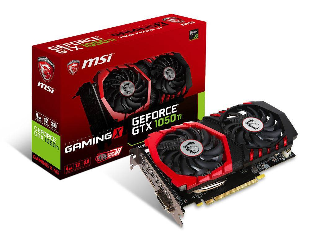 MSI GeForce® GTX 1050 Ti GAMING X 4G