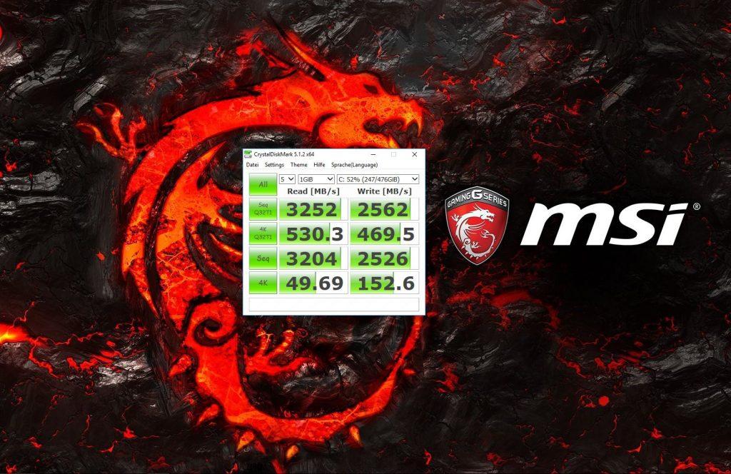 SSD Speedtest GT83VR TITAN SLI - Performance, die seinesgleichen sucht!